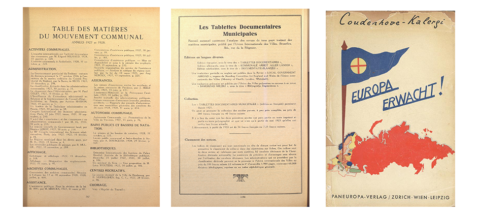 Documents: Preparatory Conference of the Promotors of the International Union of Local Authorities, 1922