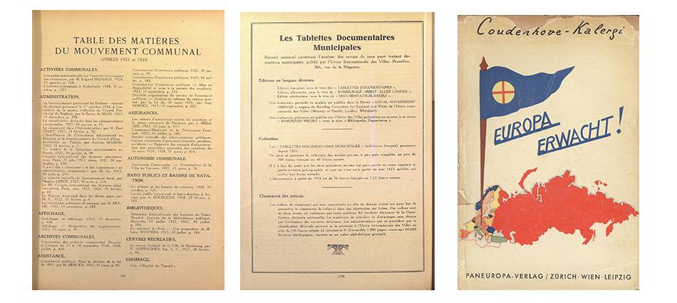 Documents: Conférence préparatoire des promoteurs de l'Union internationale des collectivités locales, 1922