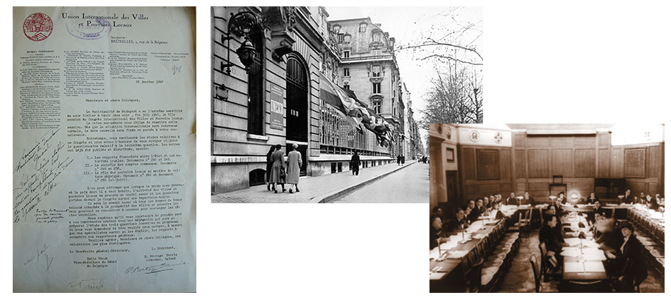 Premier congrès de l'IULA après la Seconde Guerre mondiale à Paris, France, 1947
