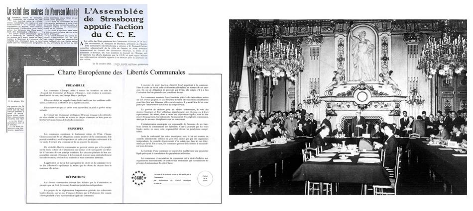 La première Assemblée générale de la CEM se tient à Versailles et aboutit à la publication de la Charte européenne des libertés communales, 1953