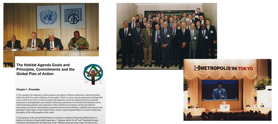 "The UN Habitat II Conference, ""the City Summit"", is held in Istanbul, 1996"