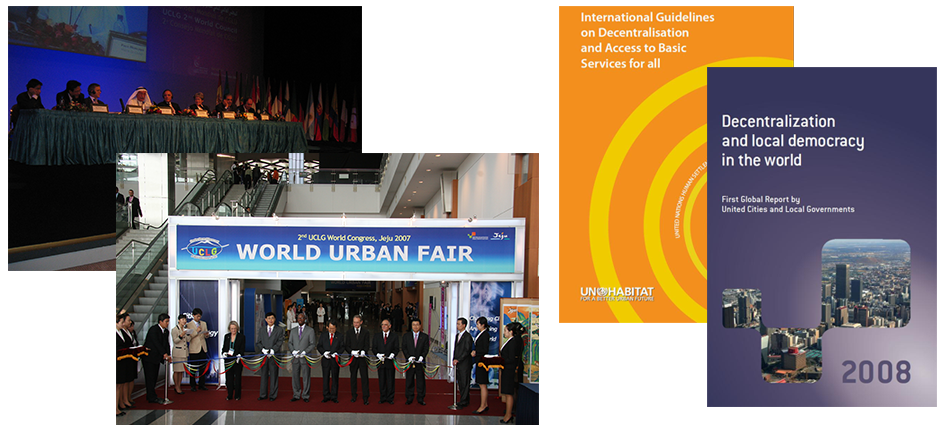 UCLG stands at the forefront on slum upgrading as it becomes Chair of the Executive Committee of Cities Alliance, 2008