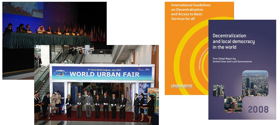 CGLU occupe la première place dans l'amélioration des bidonvilles en devenant Président du Comité exécutif de Cities Alliance, 2008
