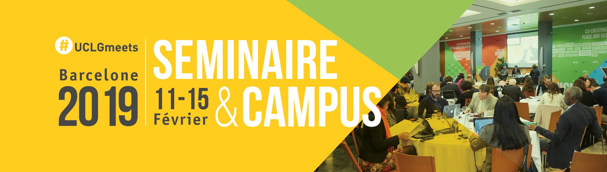 Seminaire & Campus CGLU 2019