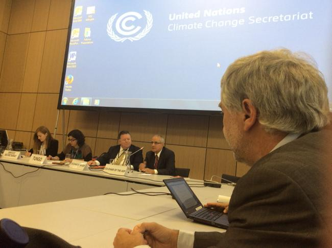 UCLG climate spokesperson attending the observer meeting with the Co-Chairs of the Bonn session