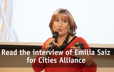 Entrevista a Emilia Saiz Cities Alliance