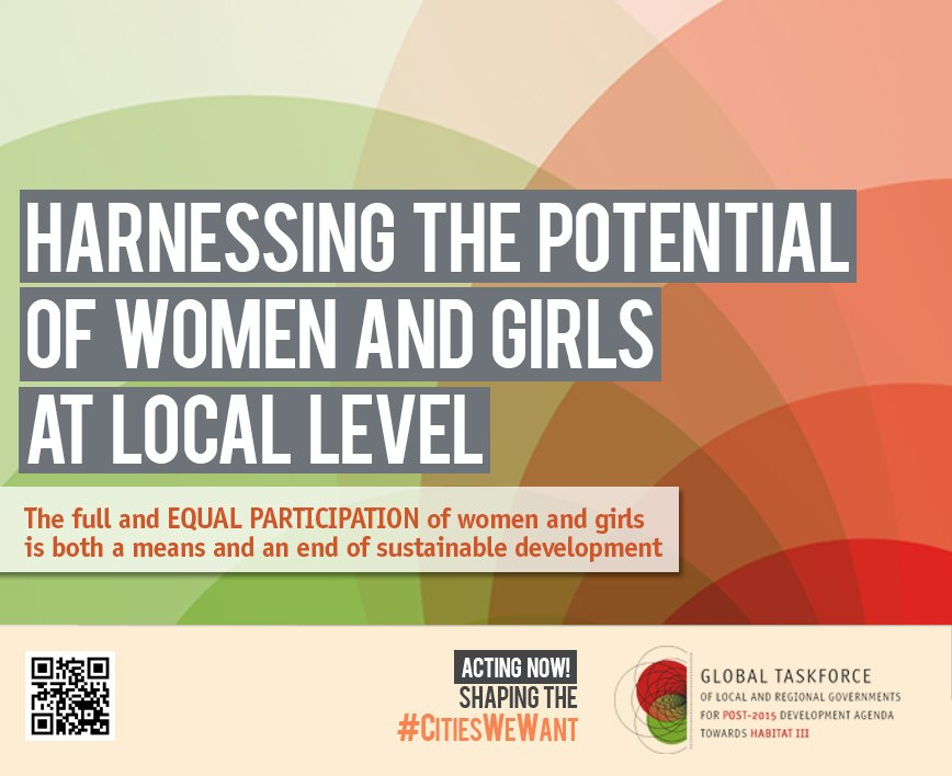 Harnessing the potential of WOMEN and GIRLS at local level