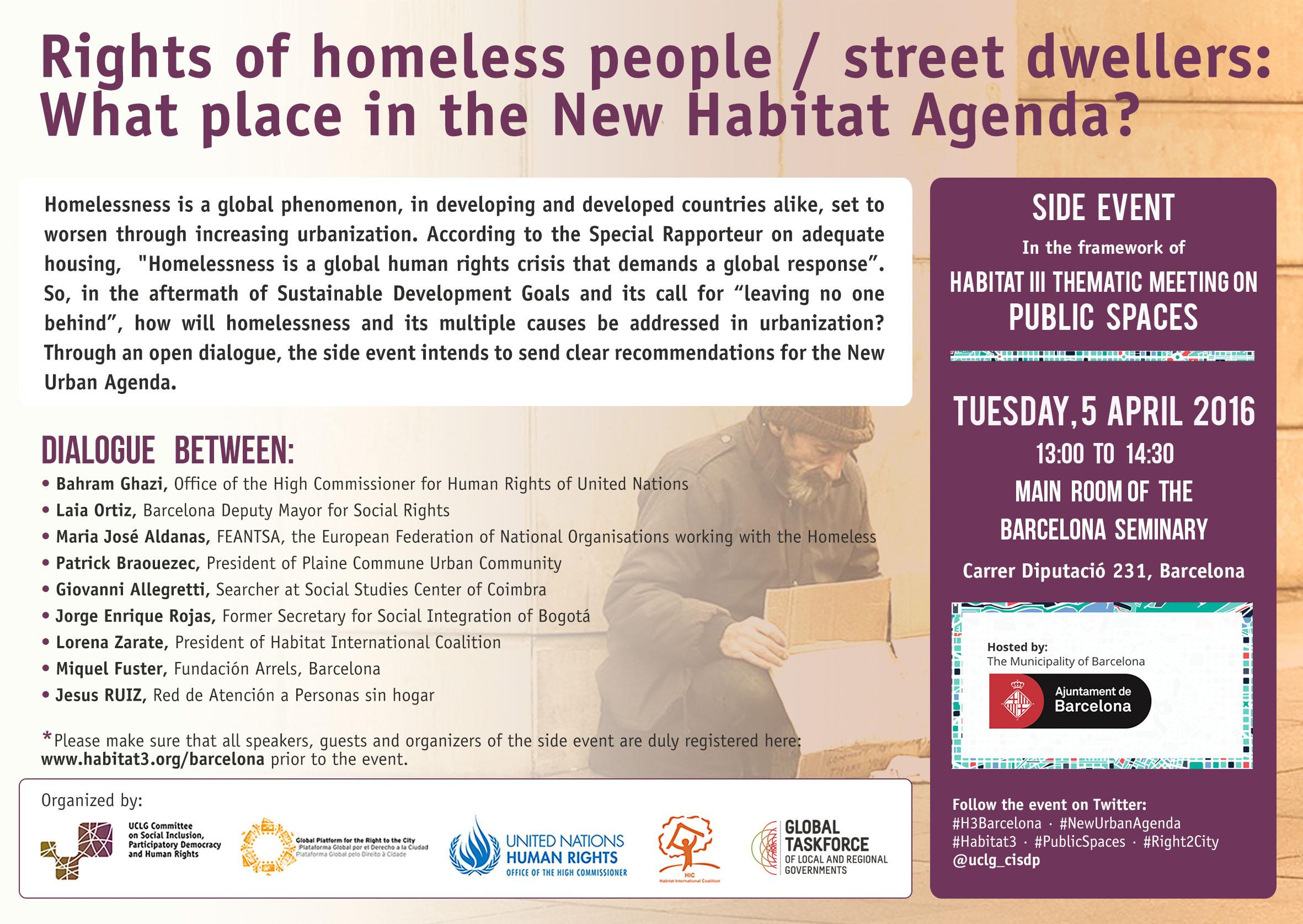 Habitat3 thematic Meeting_public spaces_cisdp Barcelona