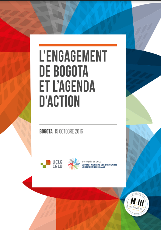 L'engagement de Bogota et l'agenda d'action