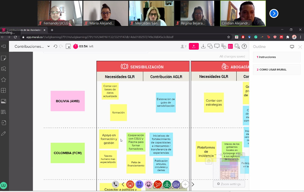Learning interactive tool shared with Zoom conference participants