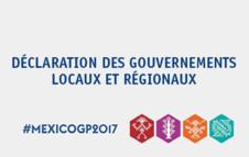 Déclaration des Gouvernements Locaux et Régionaux lors de la Plateforme Mondiale de Réduction des Risques de Catastrophe 2017