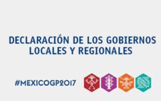 Declaración de los Gobiernos Locales y Regionales en la Plataforma Global Para la Reducción de Desastres 2017