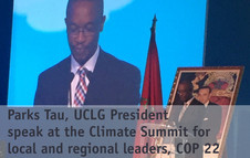 Parks Tau speech at Climate Summit for local and regional leaders, COP 22