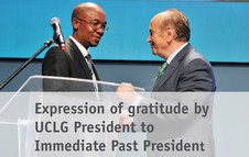 Expression of gratitude by UCLG President to Immediate Past President