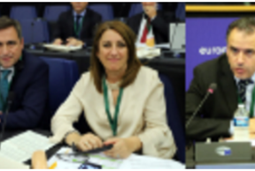 Mandatarios y mandatarias de las mercociudades presentes en el Bureau Ejecutivo de CGLU en Estrasburgo