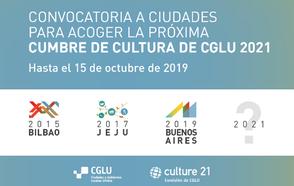 Convocatoria a Ciudades para acoger la próxima Cumbre de Cultura de CGLU 2021