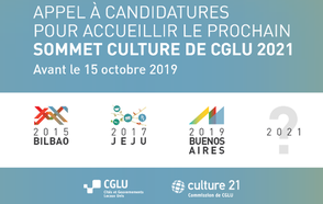 Appel à Candidatures pour Accueillir le prochain Sommet Culture de CGLY 2021