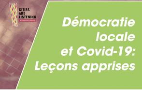 Un panel sur les leçons apprises en matière de démocratie locale s