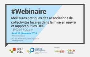 #Webinaire : Meilleures pratiques des associations nationales de collectivités locales sur la mise en œuvre et le rapport des ODD