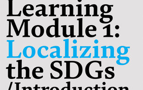 When localizing the SDGs is shared in a creative and participatory environment