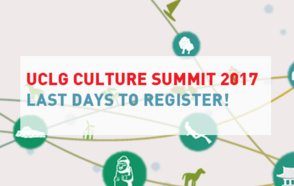 UCLG Culture Summit: Last days to register!