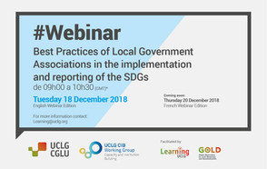 #Webinar: Best practices of Local Government Associations in the implementation and reporting of the SDGs
