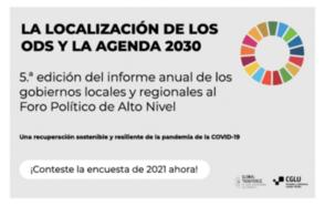 ¡Últimos días para completar la encuesta sobre la localización de los ODS!