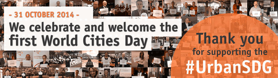 Thank you! We celebrate and welcome the  first World Cities Day