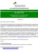 Circular 1: Registration to the group and creation of a mailing list