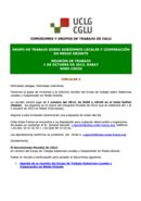 Circular 5: Reunión de trabajo 1 de Octubre de 2013 Rabat