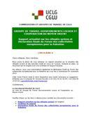 Circulaire 6 : Rapport sur les réfugiés syriens et Déclaration finale du Forum des collectivités européennes pour la Palestine