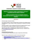 Circular 6: Informe sobre los refugiados sirianos y Declaración final del Foro de gobiernos locales europeos por Palestina