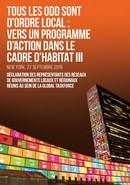 Déclaration des gouvernements locaux au sommet pour l'adoption de l'agenda du Developpement post-2015