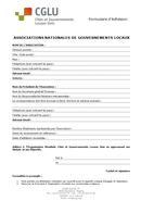 Bulletin adhésion Associations nationales et gouvernements locaux