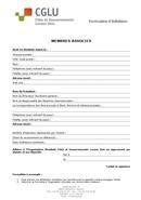 Bulletin adhésion membres associés