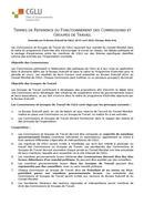 Termes de reference du fonctionnement des Commissions et Groupes de Travail
