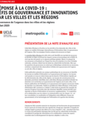 Gouvernance de l'urgence dans les villes et les régions Note #02