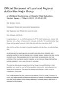 Déclaration officielle du Grand Groupe des autorités  locales et régionales (disponible en anglais)