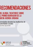Recomendaciones de la Global Taskforce sobre el Primer Borrador de la Nueva Agenda Urbana
