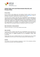 Security and Privacy Policy of UCLG
