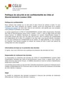 Politique de sécurité et confidentialité de CGLU