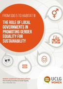 The role of local governments in promoting gender equality for sustainability