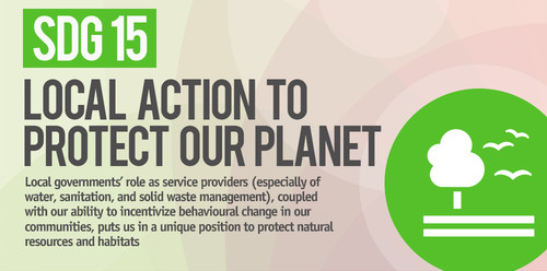 SDG15: Protect, restore and promote sustainable use of terrestrial ecosystems, sustainably manage forests, combat desertification, and halt and reverse land degradation and halt biodiversity loss