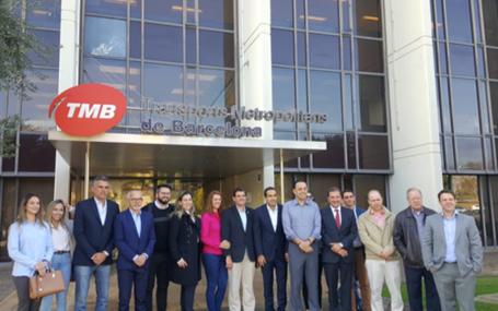 Alcaldes brasileños visitan las experiencias de movilidad, tratamiento de residuos sólidos y tecnología de Barcelona