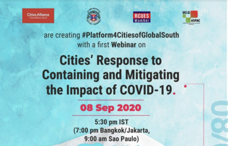 Webinar Series: Cities' Response to Containing and Mitigating the Impact of COVID 19