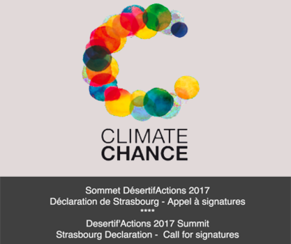 DesertifActions 2017 Summit and Strasbourg Declaration Call for