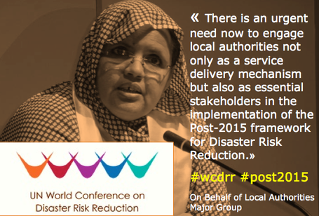 Fatimetou Mint Abdel Malick,  first preparatory committee meeting of the Third UN World Conference on Disaster Risk Reduction