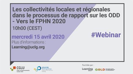 Séminaire en ligne : Les collectivités locales et régionales dans le processus de rapport sur les ODD - Vers le FPHN 2020