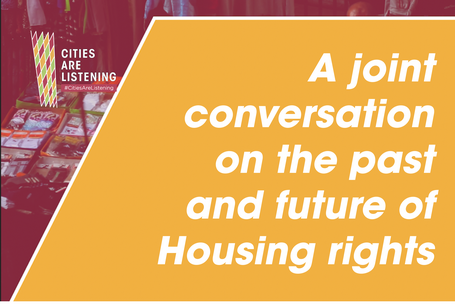 You can now watch the joint conversation on the past and future of Housing rights, co-organized between DPU, HIC, IIED and UCLG as part of CitiesAreListening