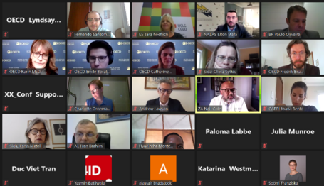 Gallery of participants of the event on Zoom digital platform
